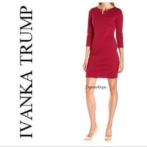 Ivanka Trump Ruby Red Toggle Dress